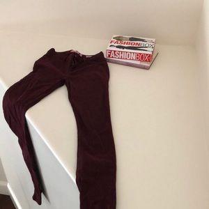 Bullhead Burgundy Skinny Jeans